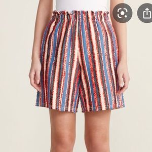 AVN Textured Stripe Bermuda Shorts 8 Multi-Color